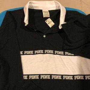 Long sleeve Pink Nation collar shirt